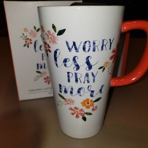 Worry Less, Pray More Travel Mug